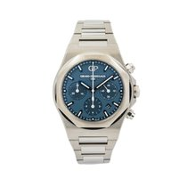 Girard Perregaux Steel Automatic Blue 42mm pre-owned Laureato