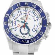 Rolex Yacht-Master II Ατσάλι 44mm Άσπρο