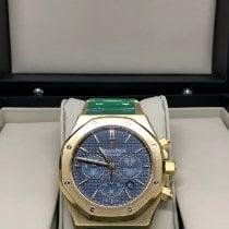 Audemars Piguet Royal Oak Chronograph Желтое золото 41mm Синий Без цифр