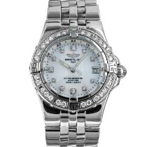 Breitling Starliner pre-owned 30mm Mother of pearl Date Steel
