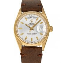 Rolex Day-Date 36 Yellow gold 36mm Silver No numerals United States of America, Maryland, Baltimore, MD