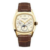 Patek Philippe Yellow gold Automatic Silver Arabic numerals 37mm new Perpetual Calendar
