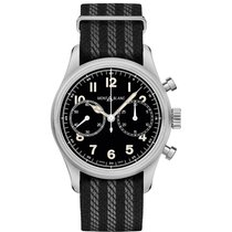 Montblanc Steel 42mm Automatic 117835 new