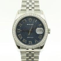 Rolex Datejust Steel 36mm Blue Arabic numerals
