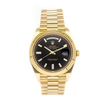 Rolex Day-Date 40 Yellow gold 40mm Black No numerals United States of America, Pennsylvania, Bala Cynwyd