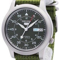Seiko 5 Staal 37mm Groen