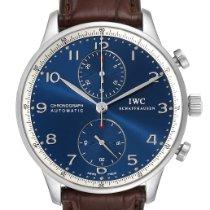 IWC Portuguese Chronograph Stål 40.9mm Blå Arabiska