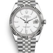 Rolex Datejust Steel 41mm White No numerals Malaysia
