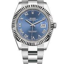 Rolex Datejust Steel 41mm Blue No numerals Malaysia