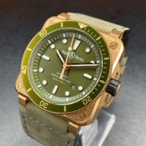Bell & Ross Bronze Automatic Green No numerals 42mm new BR 03