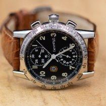 Eberhard & Co. Tazio Nuvolari pre-owned 39mm Black Chronograph Leather
