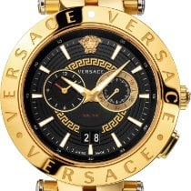 Versace new Quartz Luminous hands Luminous indices 46mm Steel Sapphire crystal