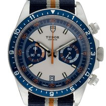 Tudor Heritage Chrono Blue Steel 42mm Blue No numerals United States of America, Maryland, Baltimore
