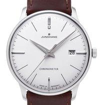 Junghans Meister Chronometer Stal 38.4mm Srebrny