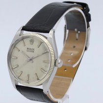Rolex Automatic Champagne No numerals 34mm pre-owned Oyster Perpetual