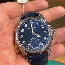 万宝龙 1858 鋼 44mm 藍色 阿拉伯數字