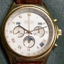 Zenith Red gold Automatic White Roman numerals 42mm pre-owned El Primero Chronomaster