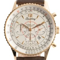 Breitling Montbrillant Yellow gold 38mm Silver