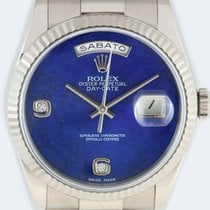 Rolex Day-Date 36 White gold 36mm Blue No numerals