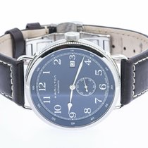 Hamilton Khaki Navy Pioneer pre-owned 40mm Blue Leather