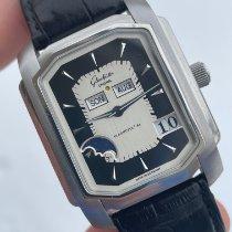 Glashütte Original Senator Karrée pre-owned Silver Leather