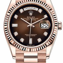 Rolex Day-Date 36 Rose gold 36mm Brown No numerals United States of America, California, Los Angeles