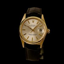 Rolex 1503 Yellow gold 1973 Oyster Perpetual Date 34mm pre-owned