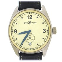 Bell & Ross Vintage pre-owned 38mm Gold Date Crocodile skin