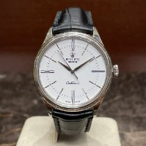 Rolex Cellini Time Witgoud 39mm Wit Geen cijfers