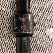 TAG Heuer Monaco Calibre 6 Steel 37mm Black No numerals United Kingdom, Uk
