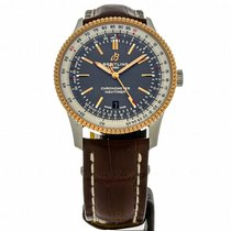 Breitling Navitimer Gold/Steel 41mm Grey No numerals United States of America, Massachusetts, Andover