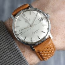 Omega Seamaster DeVille pre-owned 34mm Silver Leather