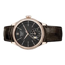 Rolex Cellini Dual Time Rose gold 39mm Brown Arabic numerals