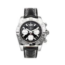 Breitling Chronomat 41 pre-owned 41mm Black Chronograph Date Tachymeter Crocodile skin