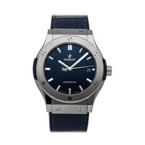 Hublot Titanium Automatic Blue 45mm pre-owned Classic Fusion Blue