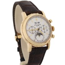 Patek Philippe Perpetual Calendar Chronograph Yellow gold 36mm Silver No numerals United States of America, New York, New York