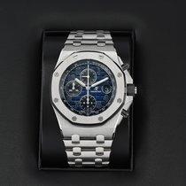 Audemars Piguet Platinum Automatic Blue 42mm pre-owned Royal Oak Offshore Chronograph