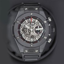 Hublot Big Bang Unico pre-owned 45mm Transparent Chronograph Flyback Date Year Ceramic