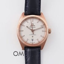 Omega Rose gold Automatic Silver 39mm pre-owned Globemaster