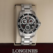 Longines HydroConquest pre-owned 41mm Black Chronograph Date Year Steel