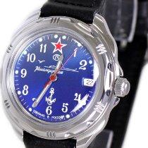 Vostok Steel 39mm Blue Arabic numerals