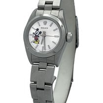 Rolex Oyster Perpetual Steel 24mm White No numerals