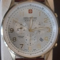 Swiss Military pre-owned Quartz 43mm Silver Sapphire crystal 10 ATM