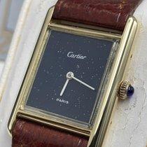 Cartier Желтое золото Автоподзавод Черный 23mm подержанные Tank (submodel)