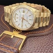 Rolex Day-Date 36 usados 36mm Blanco Fecha Titanio