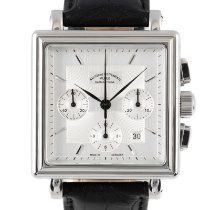 Mühle Glashütte pre-owned Automatic 38mm Silver Sapphire crystal