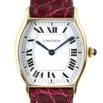 Cartier Gelbgold Handaufzug Weiß 26mm gebraucht Tortue