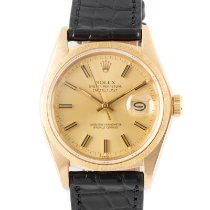 Rolex 16018 Yellow gold 1981 Datejust 36mm pre-owned