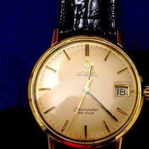 Omega Seamaster DeVille Yellow gold 34,5mm Silver No numerals