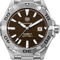 TAG Heuer Aquaracer 300M Steel 43mm Brown No numerals